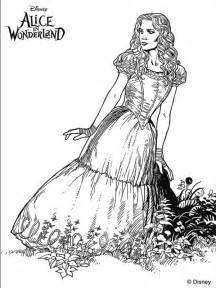 tim burton s alice in wonderland coloring page digi