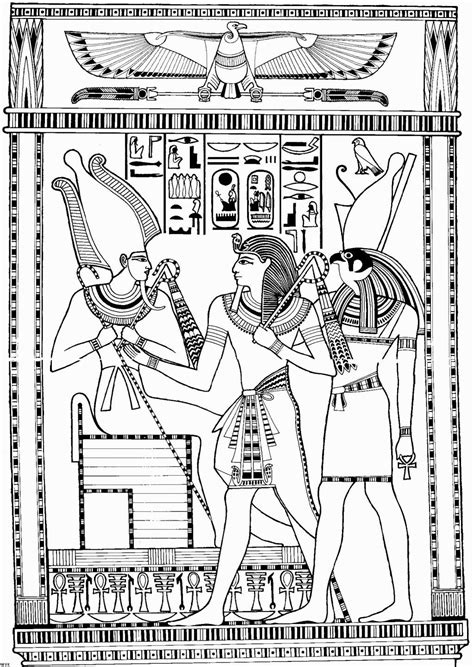 coloring pages for egyptian hieroglyphs egyptian god coloring pages az coloring pages