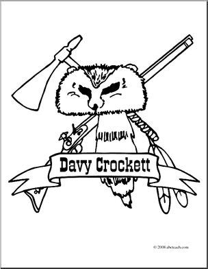 davy crockett bear coloring pages