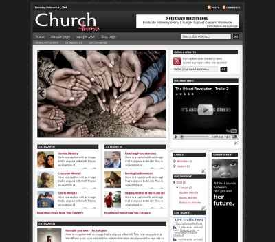 free revolution church blogger templates updated