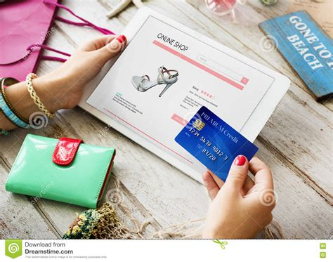 how to make a payment on store card shopping payment shop credit card concept stock