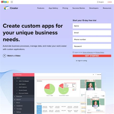 database software creator database software zoho creator pearltrees