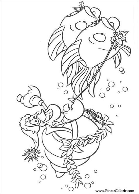 ariel winter coloring pages ザ 183 リトル 183 マーメイドのペイント カラー図面 プリントデザイン034