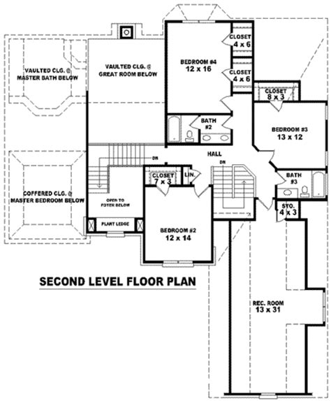 Traditional Plan 3 065 Square 4 Bedrooms 3 Traditional Style House Plan 4 Beds 3 5 Baths 3606 Sq Ft