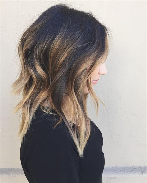 how to balayage med layered dark brown 60 balayage hair color ideas with blonde brown caramel