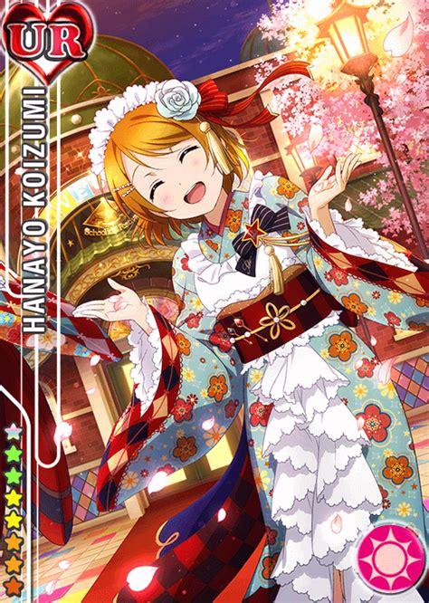 Kaos Hanayo Koizumi Live Muse Angelic Anime school idol tomodachi cards album 843 koizumi hanayo ur