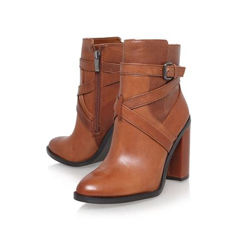 vince camuto gravell high heel ankle boots in brown lyst