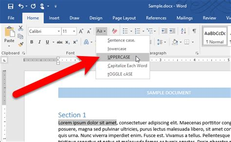 Make Capital Letters Lowercase In Word how to easily change the on text in microsoft word