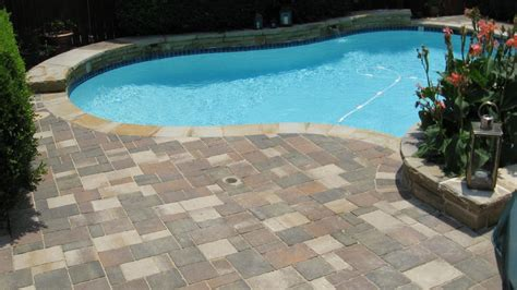 paver pool deck pool decks legacy custom pavers