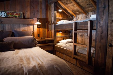 Amazing Bathroom Cabinetry #7: Stunning-Queen-Bunk-Bed-decorating-ideas-for-Bedroom-Rustic-design-ideas-with-Stunning-brown-pillows-built.jpg