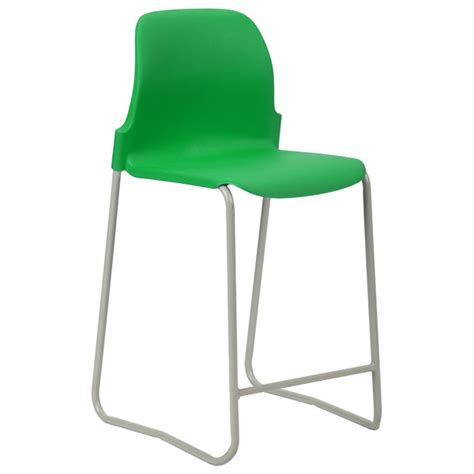 proform eur skid base classroom stool 610mm green seat