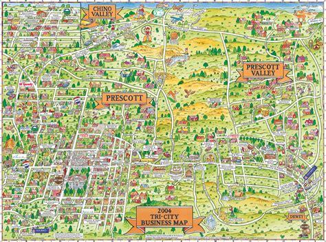 arizona sightseeing map prescott prescott valley and chino valley tourist map