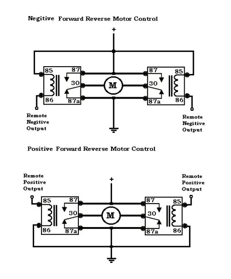 relay diagram for switching polarity