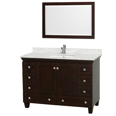 48 In Bathroom Vanity Wyndham Collection Wcv800048sescmunsm24 Acclaim 48 Inch Single Bathroom Vanity In Espresso