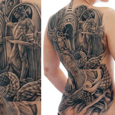 sexy medusa tattoo medusa back blackandgray medusa backpiece
