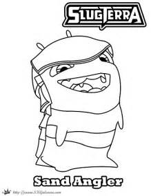 slug template slugterra megamorph coloring pages coloring pages