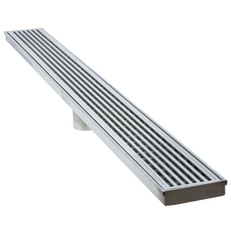 linear bathroom drain luxe linear drains 60ww satin stainless 60 quot wedgewire