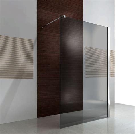 duschabtrennung feststehend duschabtrennung walk in nano echtglas ex101 graues glas