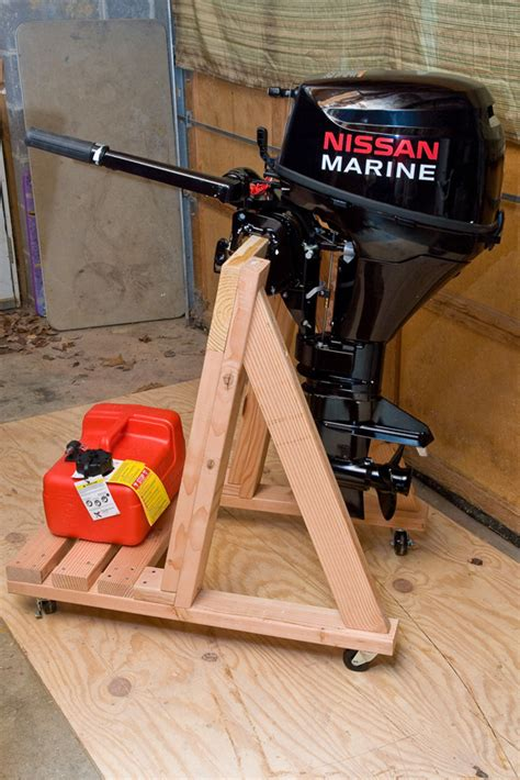 how to build an outboard motor stand build your own portable outboard motor stand
