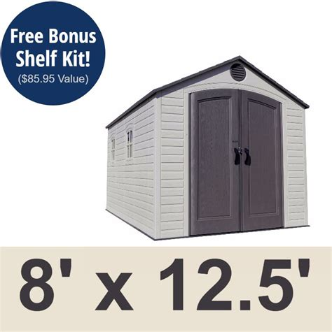 Lifetime Shed 6402 by Lifetime 6402 Storage Shed 8x12 5 On Sale With Fast And