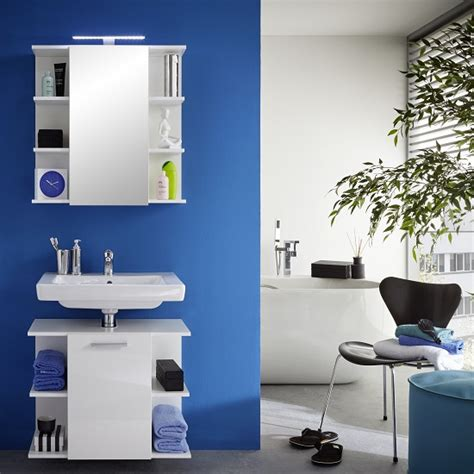 blanco bathroom furniture blanco bathroom set in white with high gloss fronts and led