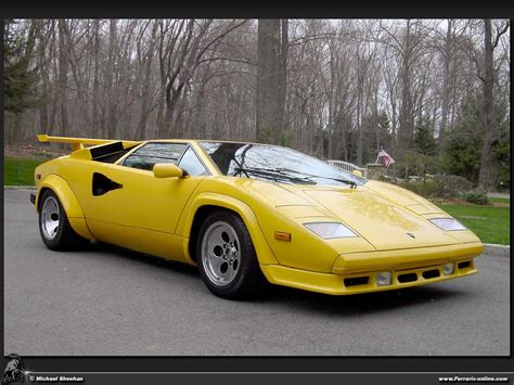 yellow lamborghini countach countach lp500 quattrovalvole lp500qv77 hr image at