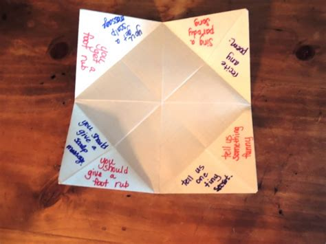 what to write inside a paper fortune teller folded paper fortune teller an easy peasy tutorial lazy