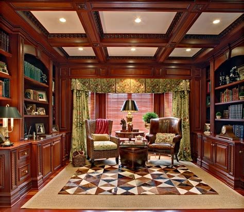 library decor mahogany home library office