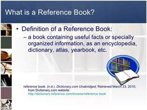 general reference book meaning references power point for 3rd grade
