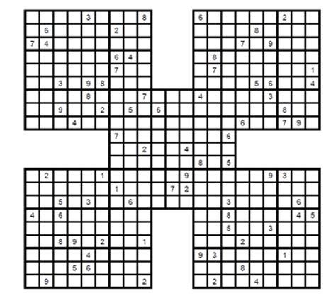 descargar sudokus para imprimir sudoku samurai medio para imprimir 1 sudoku gratis para