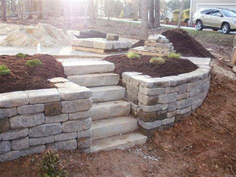 retaining wall on sloped backyard best 25 sloped front yard ideas on pinterest