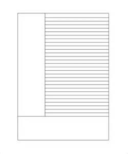 Free Printable Lined Paper Template For by Lined Paper Template 12 Free Documents In Pdf