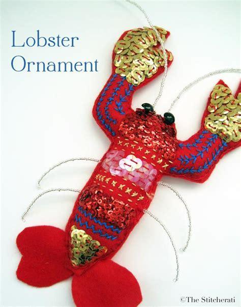 felt lobster ornament by thestitcherati sewing pattern