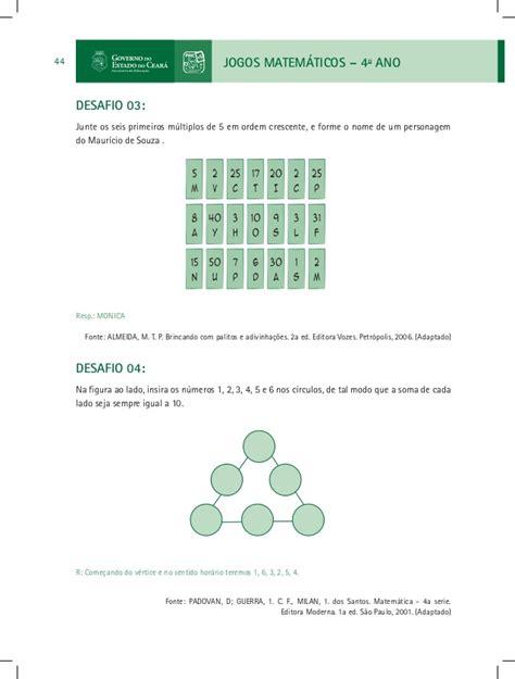 http desafio matematicos 5 b jogos matematicos 4 ano 1 e 2 bim