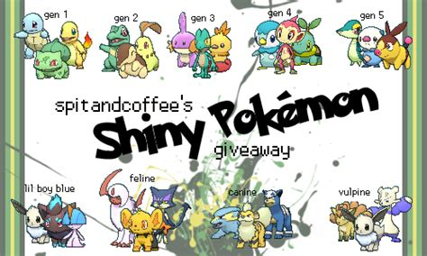 Pokemon Shiny Giveaway - all pokemon starters shiny www pixshark com images galleries with a bite