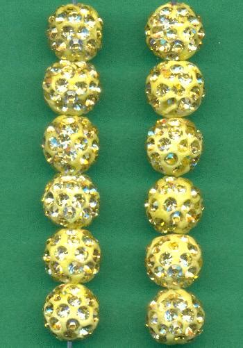 10mm Medium Yellow Rs Shamballa Bead Jan S Jewelry Supplies