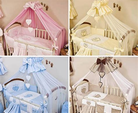 luxury 10 piece baby cot bedding set cotbed nursery canopy