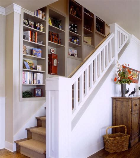 stair shelving unit shelf unit built in wall staircase interior cool stuff