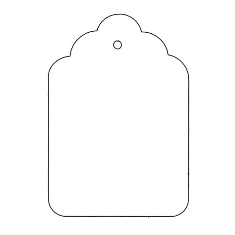 Tag Shape Template Use These Templates Or Make Your Own Present Labels Templates