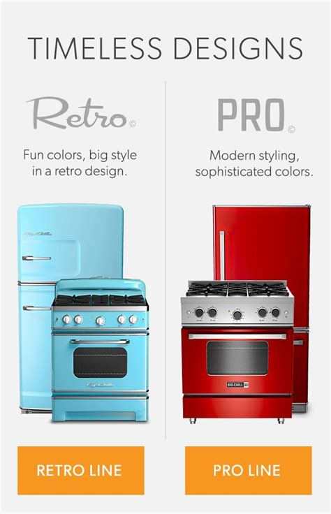 Professional Grade Kitchen Appliances | retro and modern stoves ranges ovens home retro