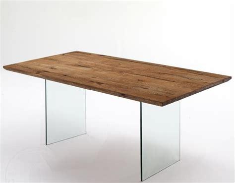 tavoli in vetro e legno tavolo da pranzo rettangolare in legno e vetro