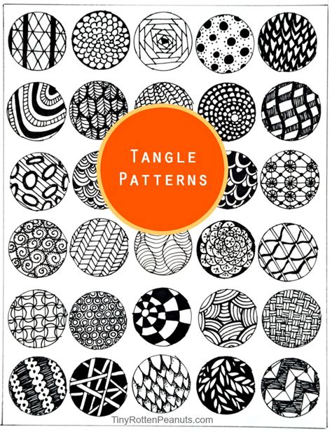 pattern ideas inspired by zentangle patterns and starter pages craftwhack