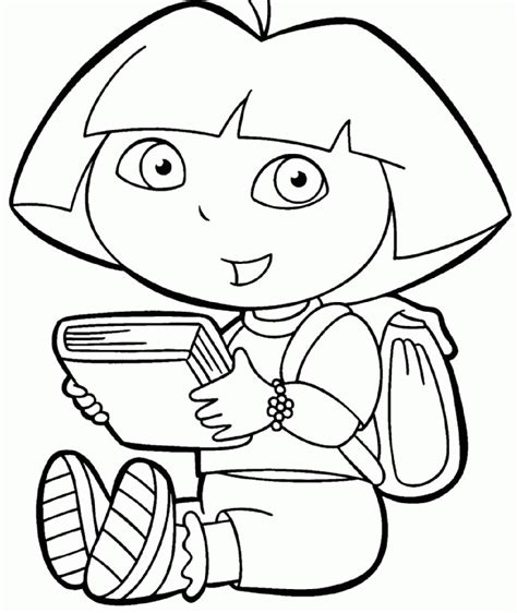 cute dora coloring pages dora coloring pages printable kids coloring