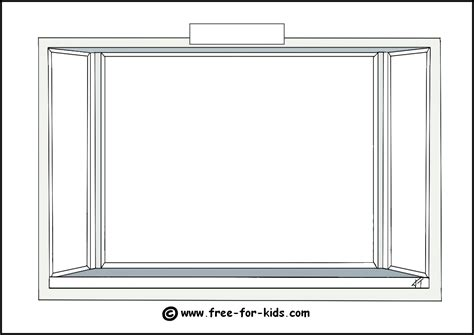 window templates seasons colouring pages