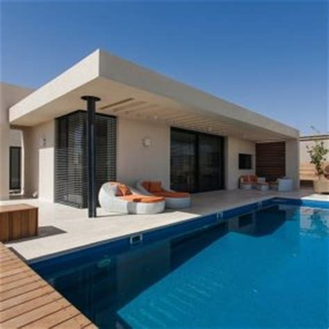 simple pool house stylishly simple modern one story house design