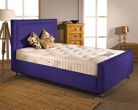 Aspire Furniture Calverton 5ft Kingsize Fabric Bedframe Purple Bed Frame