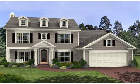 colonial style home plans 2 story colonial house plans