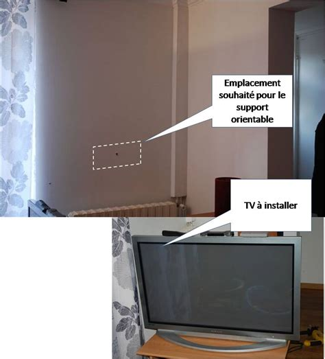 how to be on fixer fixation support tv orientable sur du placo
