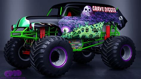gravedigger monster truck videos grave digger monster truck by chris pryke 3d artist