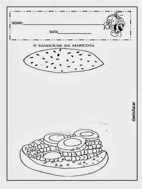 Atividade para imprimir: Sequência didática o sanduíche da